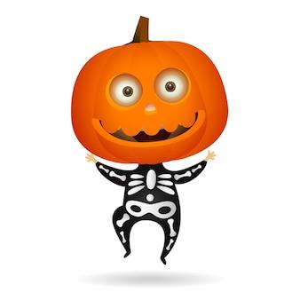 Śliczny szkielet halloween