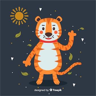 Śliczny tygrysi tło