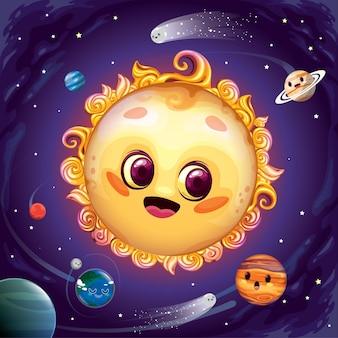 Śliczny układ słoneczny