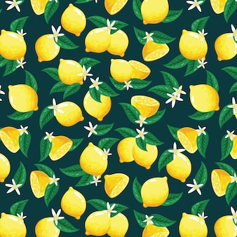Śliczny wzór cytryny