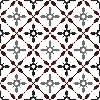 Śliczny wzór kafelków, kolorowe bezszwowe nowoczesne tło, brązowe i szare ceramiczne tapety, ornament portugalii, mozaika marokańska, ceramiczny druk ludowy, hiszpańska zastawa stołowa, płytki vintage,