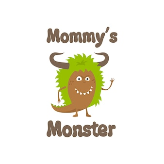 Śliczny wzór potwora mommys
