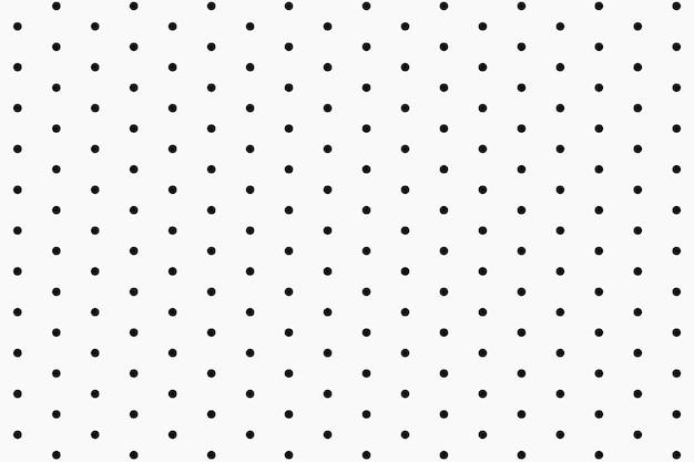 Śliczny wzór tła, kropki w czarno-białym wektorze