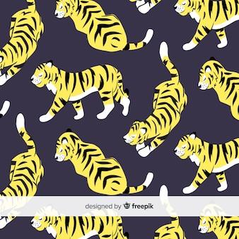 Śliczny wzór tygrysa