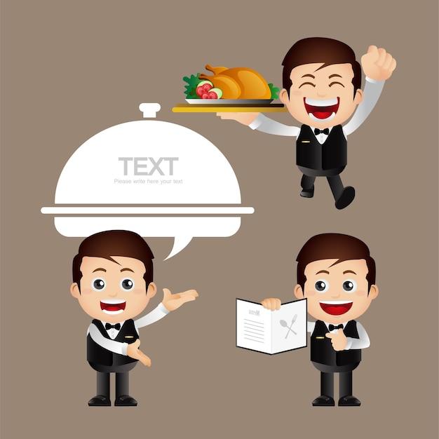 Śliczny zestaw kelnerski