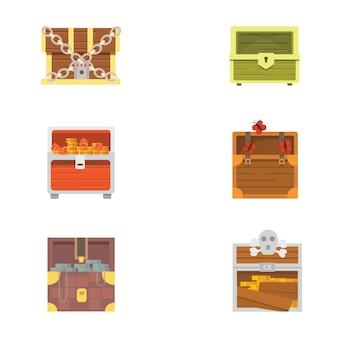 Śliczny zestaw różnych skrzyń