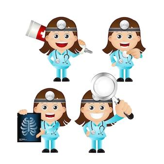 Śliczny zestaw zestaw lekarza