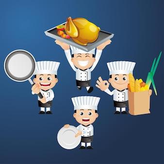 Śliczny zestaw zestaw szefa kuchni