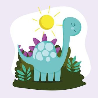 Śliczny zielony dinozaur