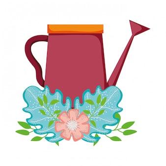 Śliczny zraszacz ogrodu z dekoracją kwiatową