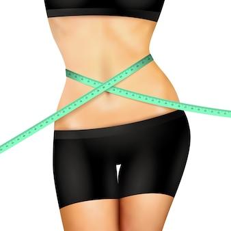 Slim fitness woman