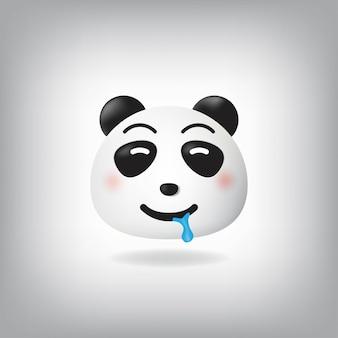 Śliniąca się buźka pandy emotikon