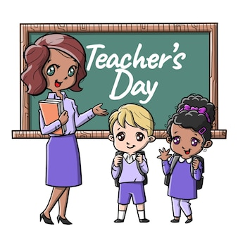 Słodcy nauczyciele i kreskówka studencka