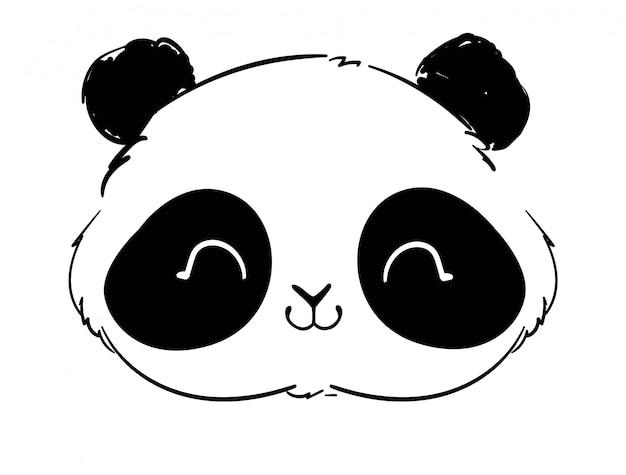 Słodka ilustracja panda bear.