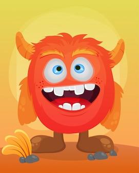 Słodka ilustracja potwora
