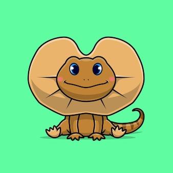 Słodka jaszczurka z falbanką