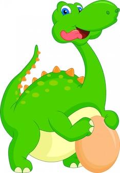 Słodka kreskówka dinozaura