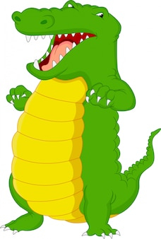 Słodka kreskówka krokodyla