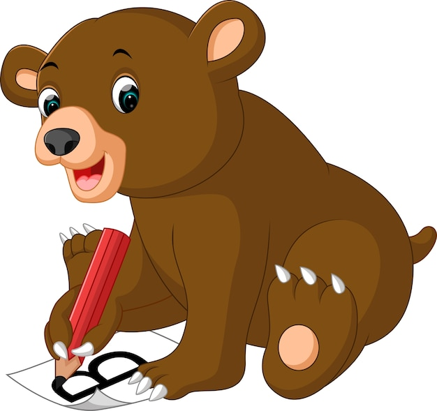 Słodka kreskówka niedźwiedź