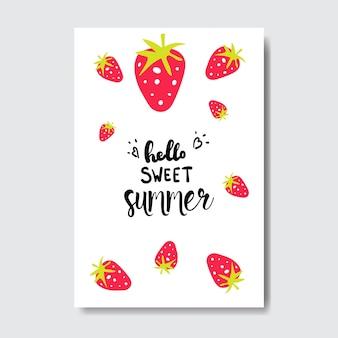 Słodka letnia truskawka