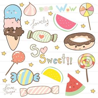 Słodka lizakowa kolekcja kreskówek dla dzieci