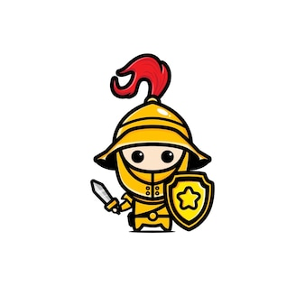 Słodka maskotka rycerza