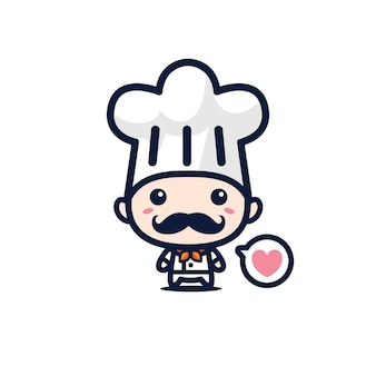 Słodka maskotka szefa kuchni