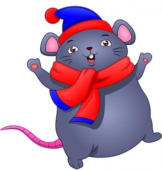 Słodka mysz kreskówki