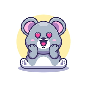 Słodka mysz zakochuje się w kreskówce