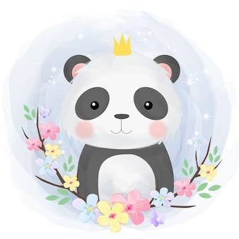 Słodka panda dla niemowląt