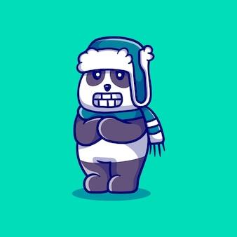 Słodka panda jest schłodzona