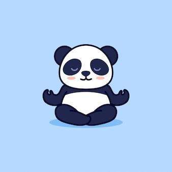Słodka panda jogi