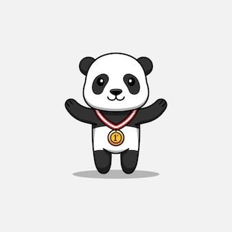 Słodka panda wygrywa konkurs