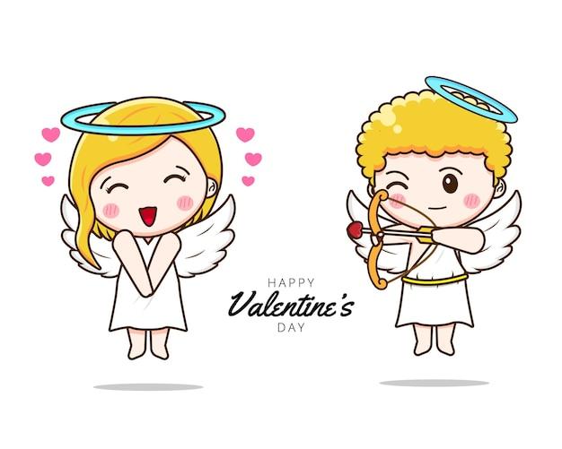 Słodka para amorek dzielenie się miłością