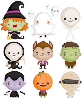 Słodka postać halloween