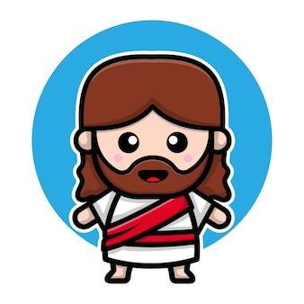 Słodka postać z kreskówki jezus chrystusa