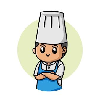 Słodka postać z kreskówki szefa kuchni