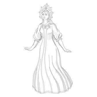 Słodka sruska dziewczyna snow maiden