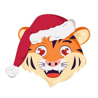 Słodka, szczęśliwa postać tygrysa