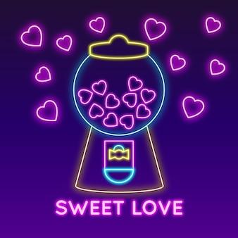Słodka wiadomość miłości na walentynki