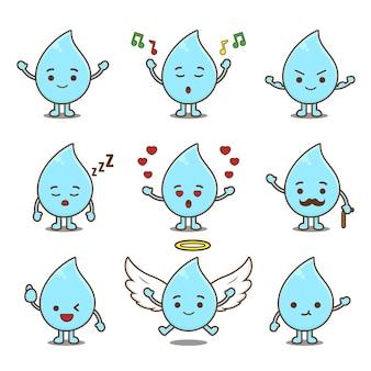 Słodka woda z różnymi wyrazami