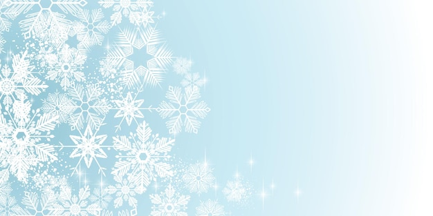 Słodka zima białe płatki śniegu pełne tło