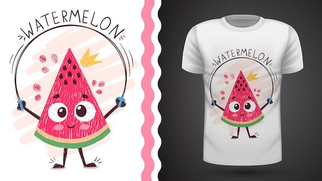 Słodki arbuz - pomysł na t-shirt z nadrukiem