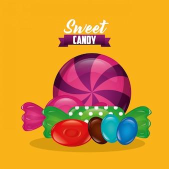 Słodki cukierek tło
