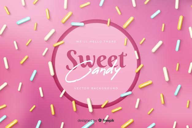 Słodki cukierek z pysznymi konfetti cukru