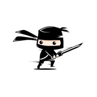 Słodki czarny ninja