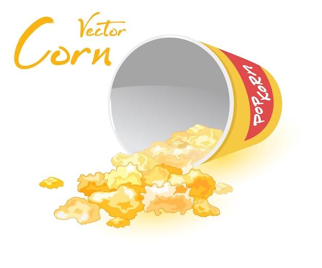 Słodki deser popcornowy z karmelizowanej kukurydzy cukrowej
