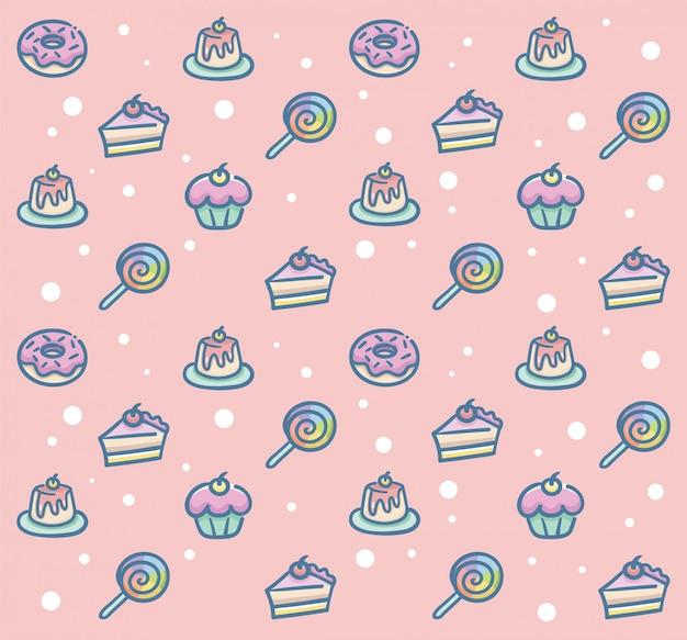Słodki deser wzór