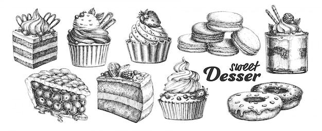 Słodki Deser Premium Wektorów