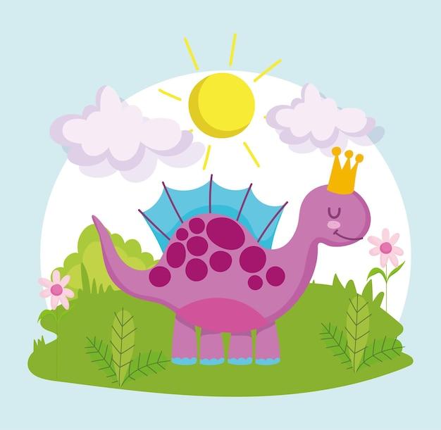 Słodki dinozaur z kreskówek